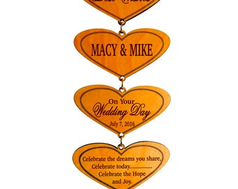 Wedding Gifts for Couple - Gift for Bride and Groom Personalized - Gift for Newlyweds - Wedding Gift Ideas - Plaque