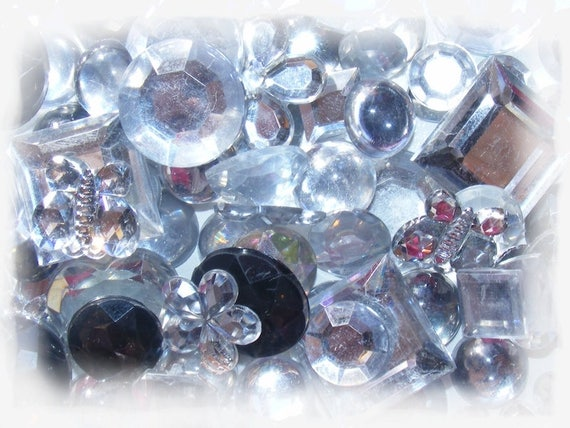 Cabochons acrylic stick 5 ~ 20mm Mixed Color silver x 10