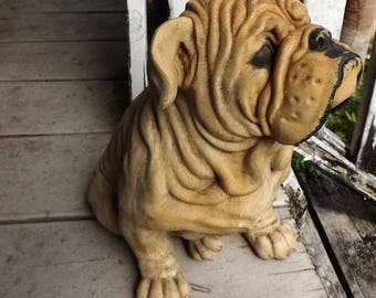 Old English Bull Dog Statue, Figurine