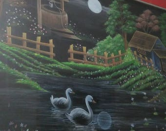 "Dusk in Woods"" Original Water Color Painting"