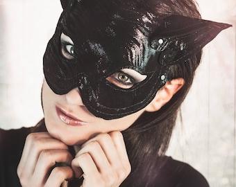Mask Cat mask Catmask cat fetish latex leather black