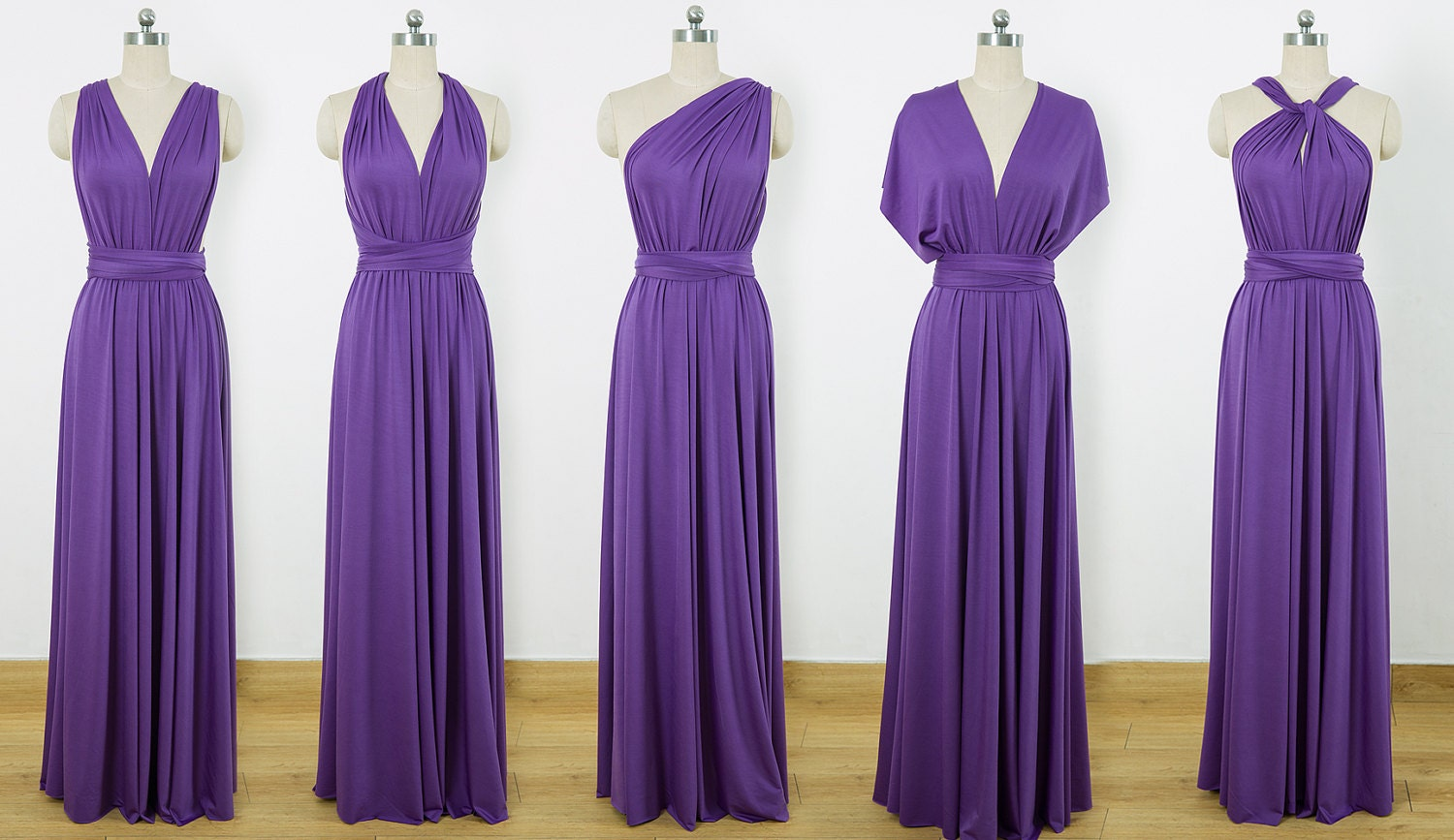 Purple Maxi Infinity Dress Convertible Bridesmaid Dress