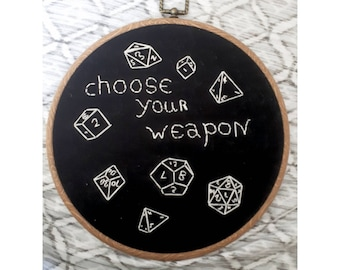 "8"" DnD/MTG Embroidered Hoop"