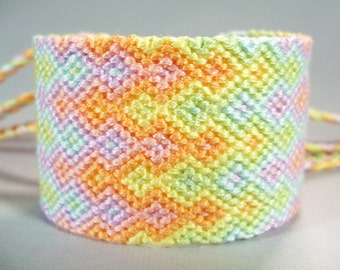 Pastel Rainbows Friendship Bracelet