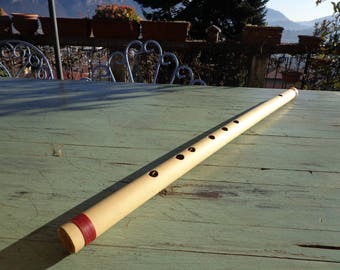 Bass bansuri in D, Bass bamboo flute in D, Indian flute in D, it's in California