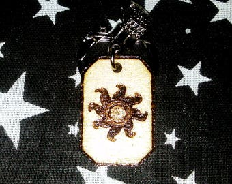 Princess Celestia cutie mark keychain
