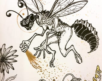 Toxic Fairy Dust Drawtober 2017