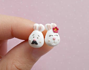 Bunny Earrings - Easter Earrings - Bunny Earrings - Rabbit Jewelry - Rabbit Lover Gift - Easter Gift - Mothers Day Gift
