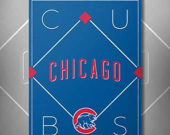 Chicago Cubs Baseball Poster