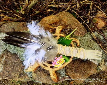 Smudge Fan-Three Feather Duck, Guinea Hen Medicine Fan-Pay with PayPal get a free spell in the box! Ceremonial Dance-Storytelling,Cleansing