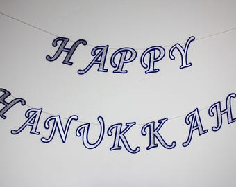 Happy Hanukkah Banner/ Hanukkah Decoration