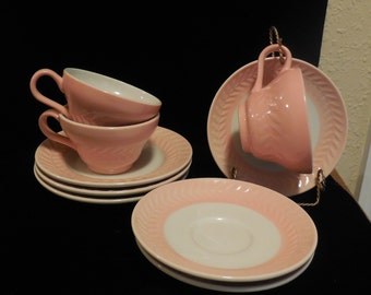 Cups and Saucers ANCHOR HOCKING SHENAGO China