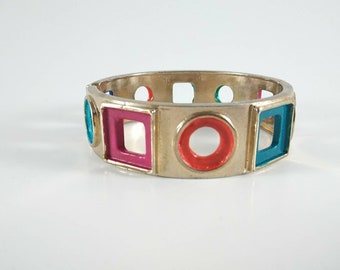 BE BOLD with this vintage cuff bracelet renovated with bright pops of color.