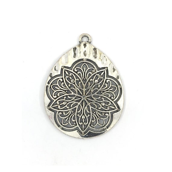 """Great charm - silver color """"rose"""""""