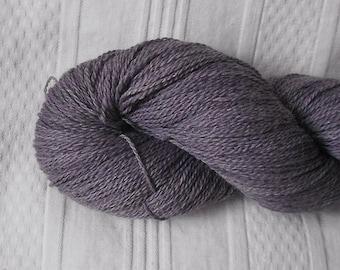 Violet silk/merino laceweight yarn