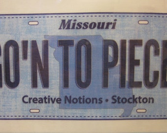 ROW By ROW Experience 2016 License Plate Stockton Missouri - Creative Notions Quilt Shop