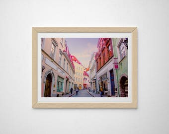 Europe Print, Europe wall art, Europe photography, Tallinn Estonia, Old Town, Europe architecture, colorful, fine art, whimsical