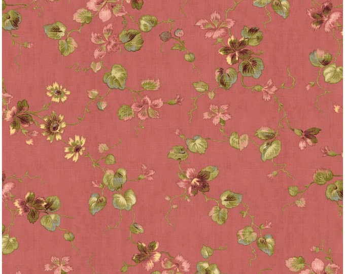 Penny Rose Riley Blake cotton fabric - Isabella Floral PR4691 Coral