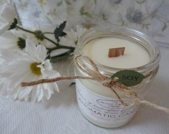 Aromatic Soy Candle with Wood Wick