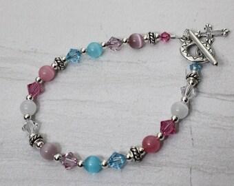 Colors of Faith Sterling Silver Bracelet
