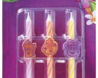 Dora the Explorer Birthday Cake Cupcake Candles (set of 6)