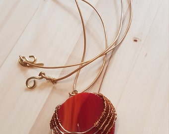 Red circle jewelry