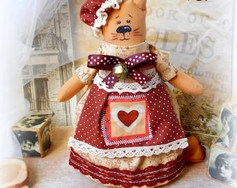 Cat Sewing Pattern,Cat Pattern PDF, Instant Download Plush Stuffed Toy Tutorial, Fabric cat pattern. Cat PDF
