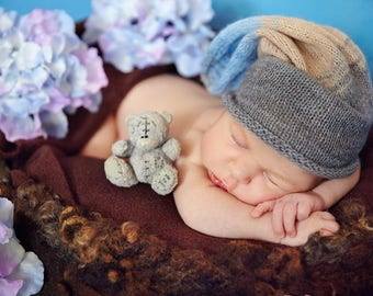 Newborn knit Hat. Hipster Hat. Photo prop Hat. Baby Hipster Hat.