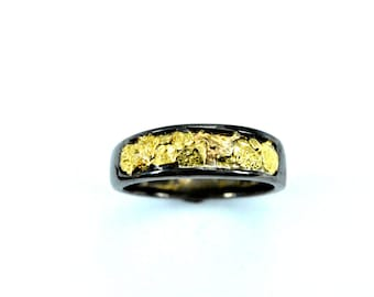 2350-Men's Gold Nugget  Band-Promotion 10% Off