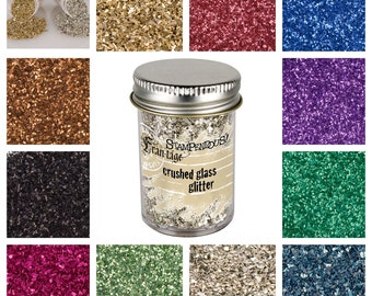 Stampendous Crush Glass Glitter, 11 Glitter Color Choices