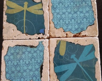Blue Dragonfly Coasters