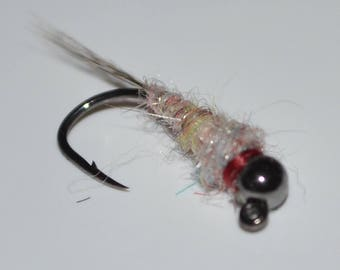 3 Jig Style Tungsten Surveyor Nymphs. Trout Flies. Nymphs. Fly Fishing. Flies. Homemade.