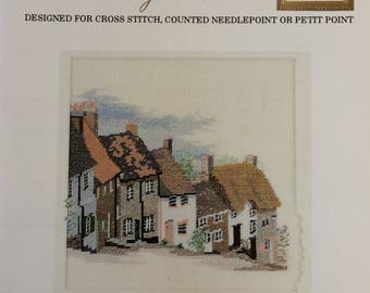 Gold Hill, Shaftesbury - vintage counted cross stitch chart- Down Under Designs