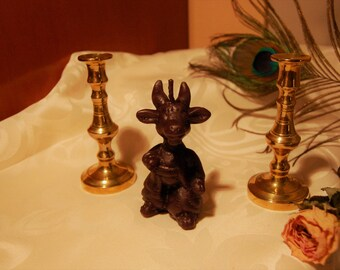 Black Satanic Candle Baphomet Goat Spiritual Satanism Ritual Altar Cute Satan Witchcraft Yule Gift offering