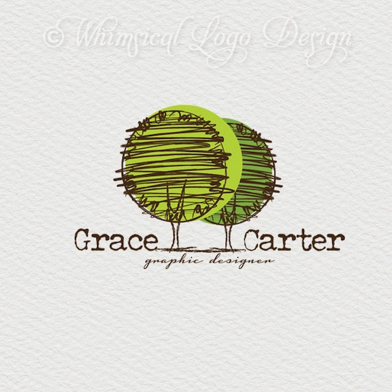 Premade Tree Logo Design Photography Watermark Vintage
