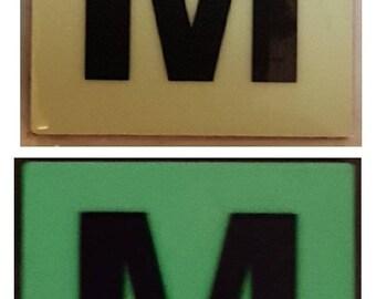 """Photoluminescent Door Identification Number N Sign Heavy Duty / Glow In The Dark """"Door Number"""" Sign Heavy Duty (Aluminum Sign 1.5 X 1.5)"""
