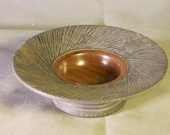Textured Black Walnut Bowl