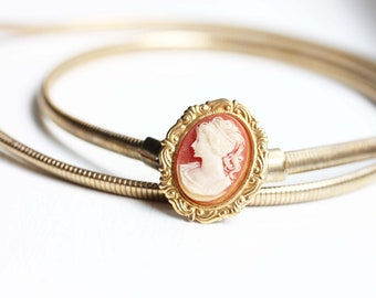 Vintage Cameo Belt - Small
