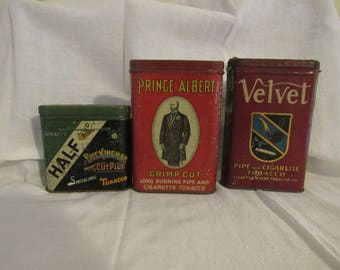 Vintage Tobacco Tin Trio