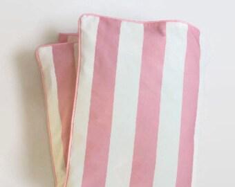 Grande Stripe en rose et blanc bébé couette - rayé rose et blanc - couette lit - bébé côtières - bébé BCBG