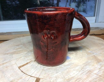 Handmade Mug, Carved Mug, Coffee Mug, Pottery Mug, Carved Cup, cup of Joe Mug