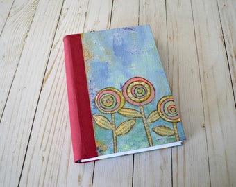 Diary, handmade journal, book of happy thoughts, calligraphy journal, lettering notebook sketchbook