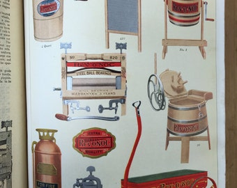 1913 OVB Hibbard Spencer Bartlett Hardware Catalog 8x9.5x3.5 with Color Chromo Lithographs Antique Tools Household  Shipping is not free