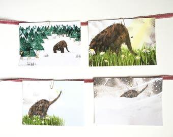 Woolly Mammoth Postcard Set