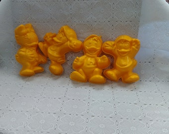 Vintage Ducktales Dewey Huey Louie Webbigail Webbie Duck Jello Molds Authentic Disney Set of 4 (3)