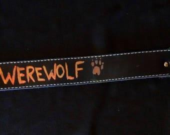 """Horror Costume Collar - """"Werewolf"""" - GLOWS in the Dark!"""