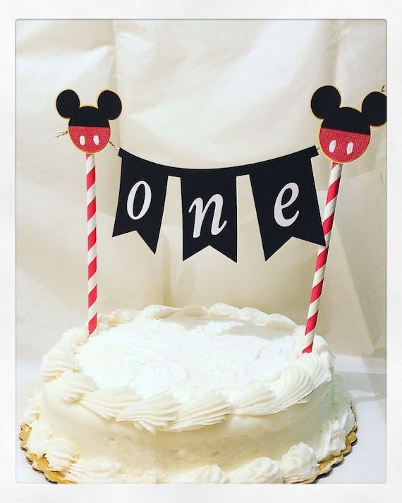 Mickey Mouse cake topperMickey mouse cake bannerphoto