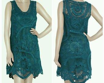 Crochet Beach dress, crochet Maxi dress, crochet dress, knitted dress, Bohemian dress, Hippie dress, crochet clothing, crochet Lace, dresses