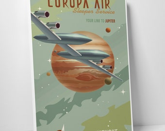 Europa Air Gallery Wrapped Canvas Print