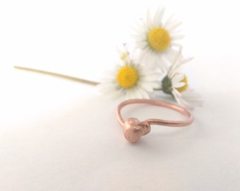 Copper ring Woman ring Contemporary jewelry Gift for her Unconventional ring